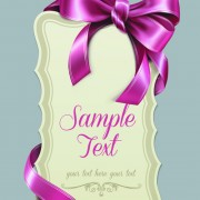 Link toPretty bows cards vector graphic 04