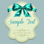 Link toPretty bows cards vector graphic 05