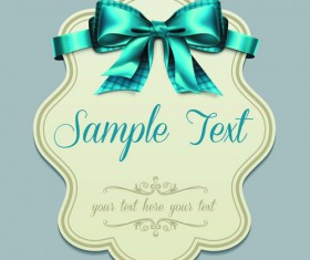 Pretty Bows Cards vector graphic 05