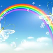 Link toCartoon rainbow design elements vector material 01