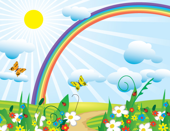 Free Download Cartoon Rainbow Design Elements Vector