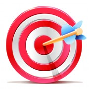 Link toRed target aim with darts elements vector 01