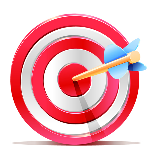 Red target aim with darts elements vector 01 vector other free