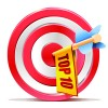 Red Target Aim with Darts elements vector 05