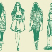 Link toHand drawn sketches female design vector 05