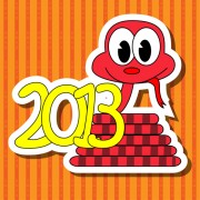 Link toDifferent snake 2013 design elements vector collection 02
