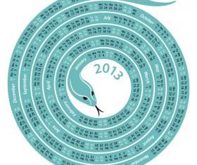 Snake 2013 Christmas design vector graphics 11