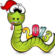 Link toSnake 2013 christmas design vector graphics 12