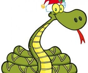 Snake 2013 Christmas design vector graphics 14
