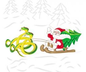 Snake 2013 Christmas design vector graphics 15