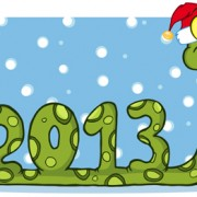 Link toSnake 2013 christmas design vector graphics 17