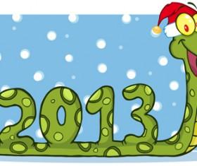 Snake 2013 Christmas design vector graphics 17