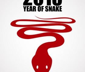 Snake 2013 Christmas design vector graphics 19