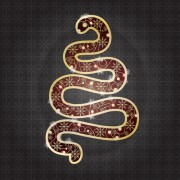 Link toSnake 2013 christmas design vector graphics 20
