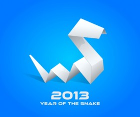 Snake 2013 Christmas design vector graphics 21