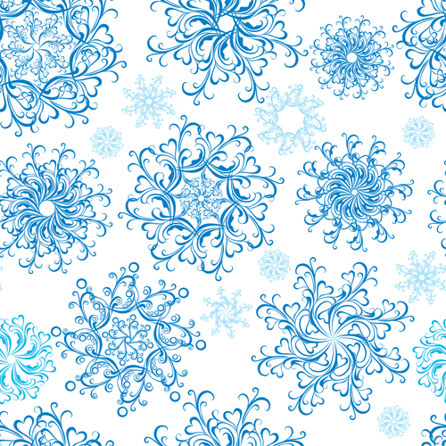Christmas Snowflakes patterns design vector 05