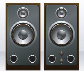 Different Speaker System design vector set 02