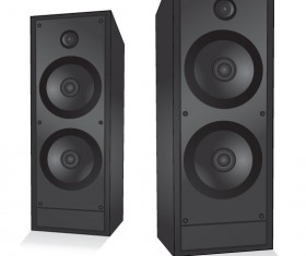 Different Speaker System design vector set 03