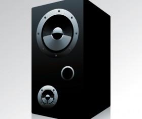 Different Speaker System design vector set 04