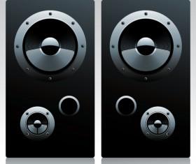 Different Speaker System design vector set 05