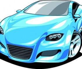 Colored Sport Car elements vector material 01