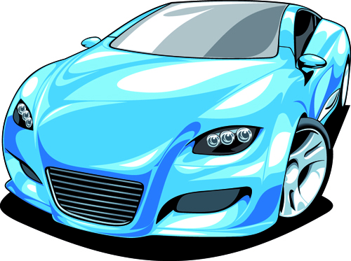 Colored Sport Car Elements Vector Material 01 Free Download
