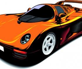 Colored Sport Car elements vector material 02