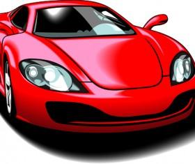 Colored Sport Car elements vector material 05