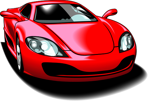 Colored sport car elements vector material 05 – Over millions ...