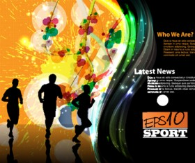 Sports design elements vector background 02