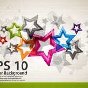 Link toColorful stars background art vector 01