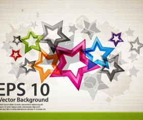 Colorful Stars Background art vector 01