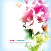 Link toColorful stars background art vector 04