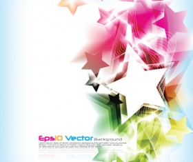 Colorful Stars Background art vector 04