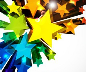 Colorful Stars Background art vector 05