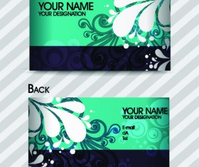 Commonly Stylish business card design vector 01