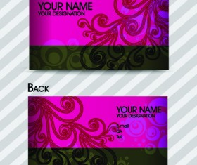 Commonly Stylish business card design vector 02