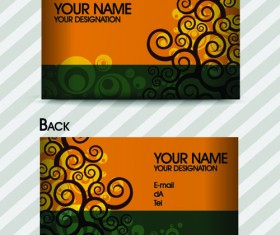 Commonly Stylish business card design vector 03