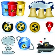 Link toSet of danger radiation symbols and icons vector 02