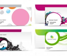 envelope presentation Template design vector 01