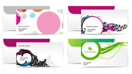 envelope presentation Template design vector 01 free download