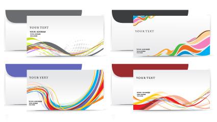 envelope presentation template design vector 03 free download