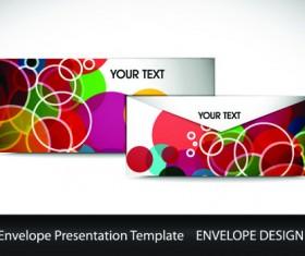 envelope presentation Template design vector 04