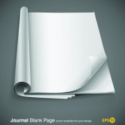 Link toSet of journal blank page design vector 05