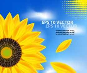 Bright Templates Nature elements vector 03