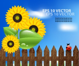 Bright Templates Nature elements vector 04