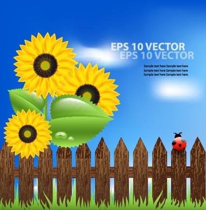 Bright Templates Nature elements vector 04