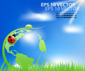 Bright Templates Nature elements vector 05