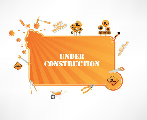 Different Under Construction icon vector set 03