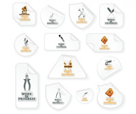 Different Under Construction icon vector set 05